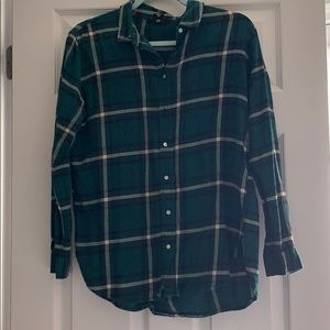 Green H&M plaid Shirt